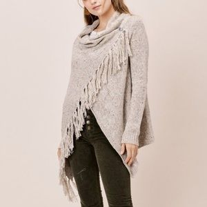 Lovestich Camel Speckled Knit Cardigan Sweater M